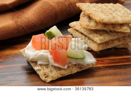 Whole Wheat Crackers With Topping