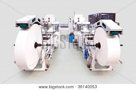 Embalagem e linha de máquina de impressão