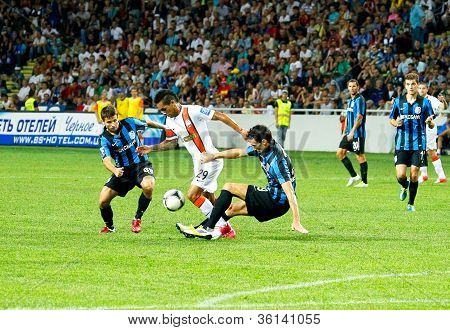 Odessa, Ukraine - August 19, 2012: A Football Match Between Shakhtar Donetsk And Chernomorets Odessa