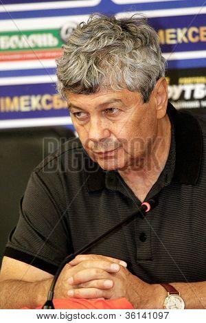 "Odessa, Ukraine - August 19, 2012: Mircea Lucescu, Coach Of Fc ""shakhtar"" (donetsk) In The Post-matc"