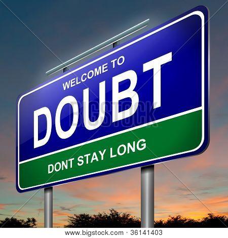 Concepto de la duda.