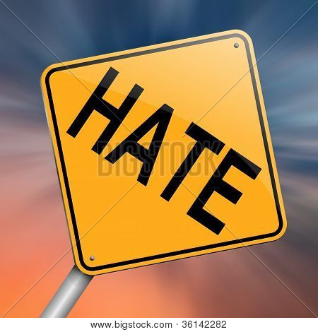Hate Concept.