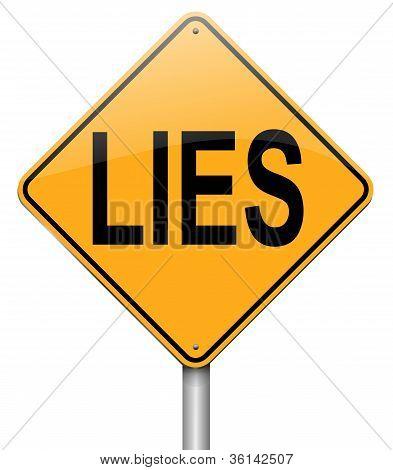 Concepto de mentiras.