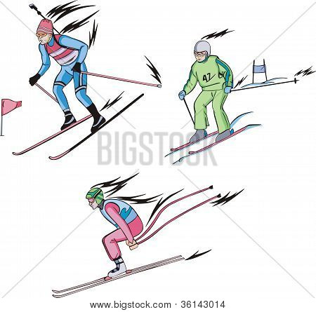 Biathlon And Alpine Skiing
