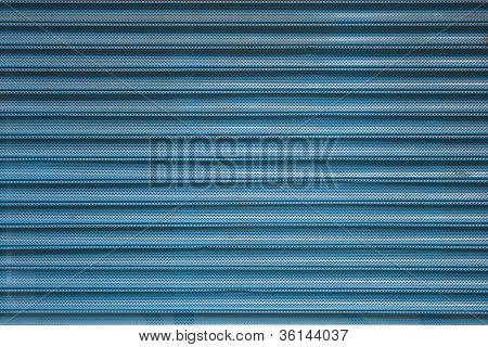 Blue Roll Shutter