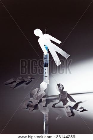 The Conceptual Image On A Theme Of Narcotic Dependence