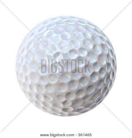 Isolated White Golf Ball