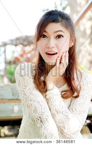 Asian Female Woman In A Shocked Pose