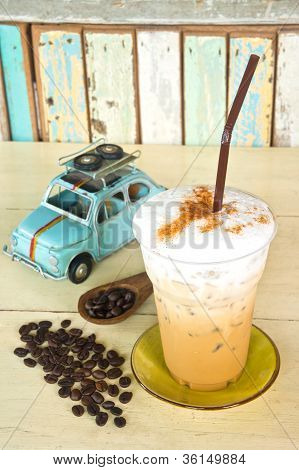 Delicious Ice Coffee Cappuccino