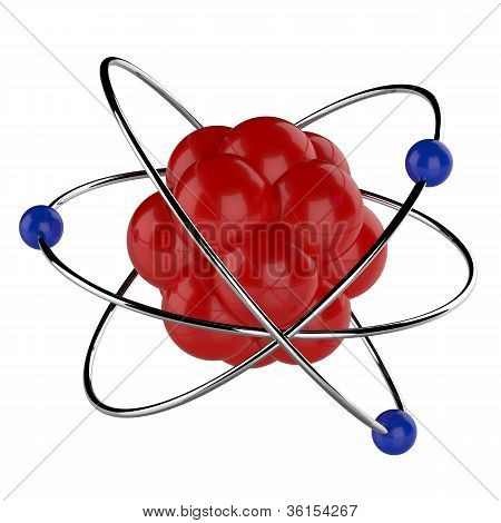3D digital illustration of atom