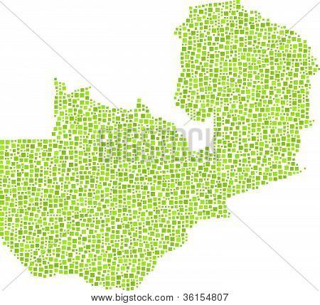 Map of Zambia - Africa -
