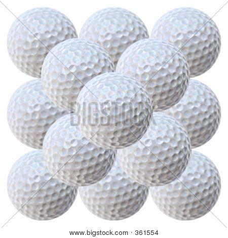 Golf Balls Piramid (20.2 Megapixels)