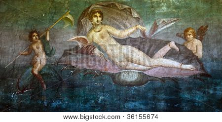 Mural of Venus on the wall of a Pompeii house