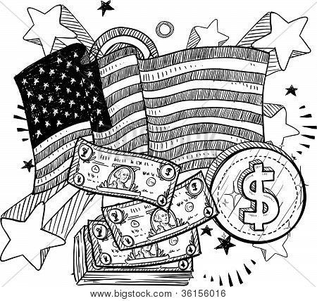 American wealth sketch