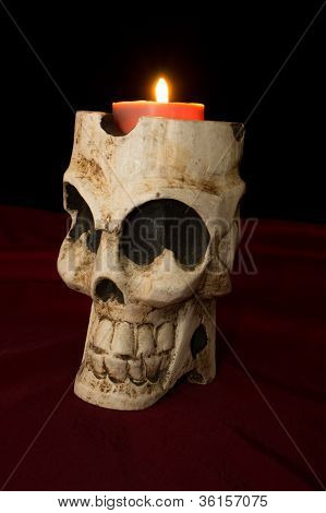 Day Of The Dead Skull Candle