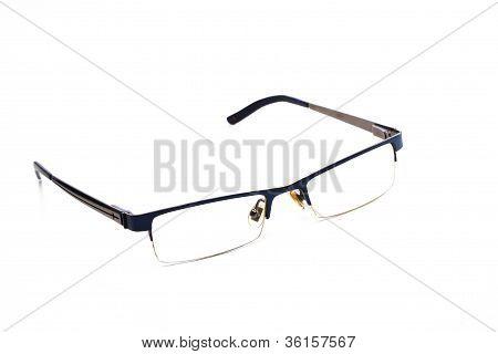 Modern Glasses On White