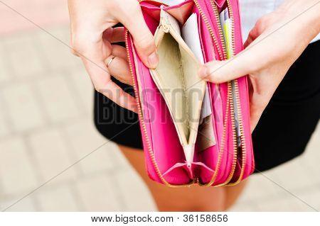 lack of money