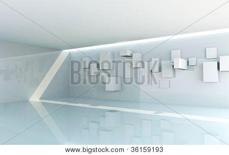 abstrakte Galerie Interieur
