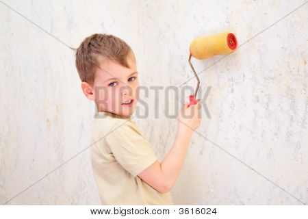 Boy With Roller