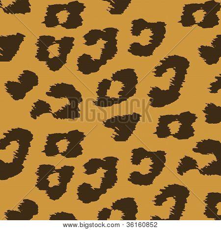 Animal Skin Textures Of Leopard. Vector Illustration Wild Pattern, Eps 10