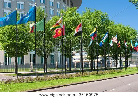 Avenue Of Flags In Hague