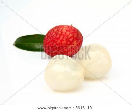 Close Up Of Fresh Litchi Fruit