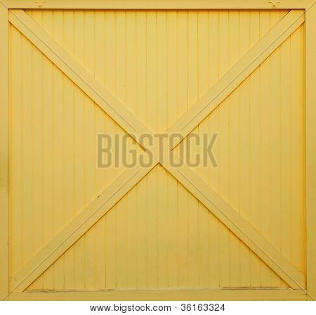 Yellow Painted Barn Door