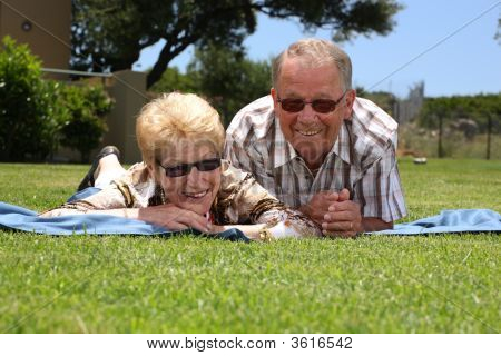 Happy Senior Couple Having Fun Outdoors