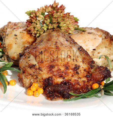 Coxas de frango frito