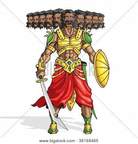 Raavana with Ten Heads