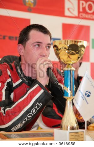 Moscow - June 22: The Champion Gives Interview On The Second Stage Of The Championship Of Russia Jun