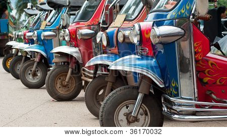Tuk-tuk Taxis In Thailand