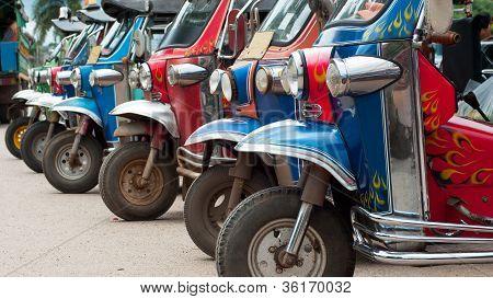 Tuk-tuk Taxis In Thailand