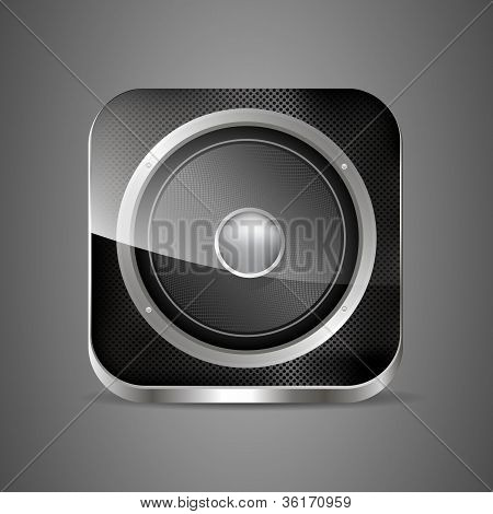 Icon Loudspeaker Vector. Audio App