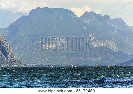 Garda Lake At Malcesine