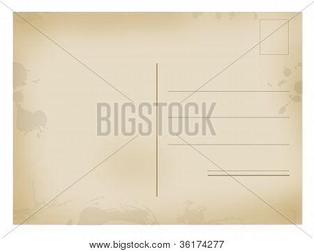 Back Side Of Old Postal Card