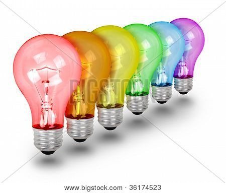 Unique Idea Lightbulbs on White