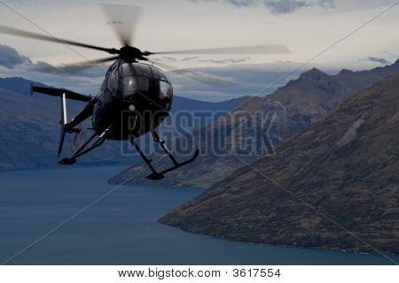 Chopper Action Over Queenstown