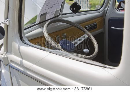 1940 Blue & White Ford Truck Interior