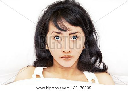 Asian Woman Getting Insomnia