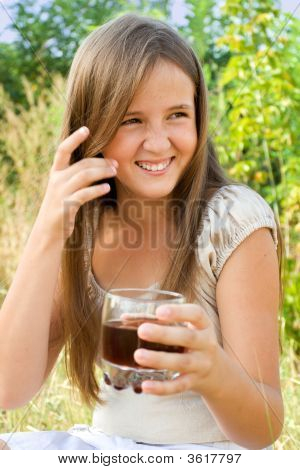 Young Girl With Soft Drink