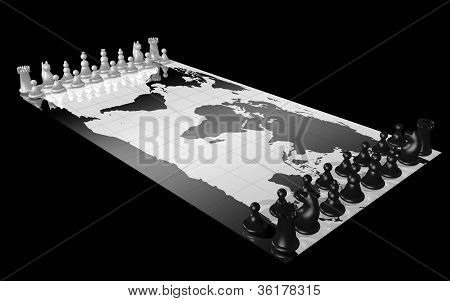 World map chess
