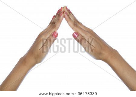 Hands Made Of House Shape