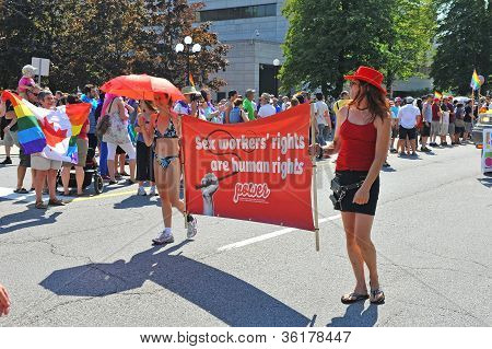 Sex workers in Pride Parade in Ottawa