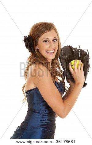 Vestido azul de Softbol