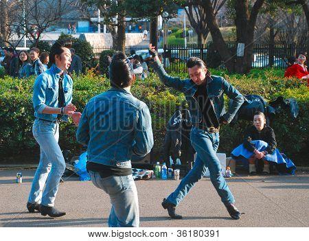 Japanische retro Rockabilly-Jungs