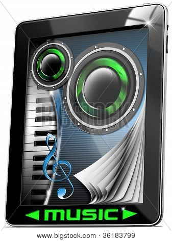 Music Tablet Computer With Pages