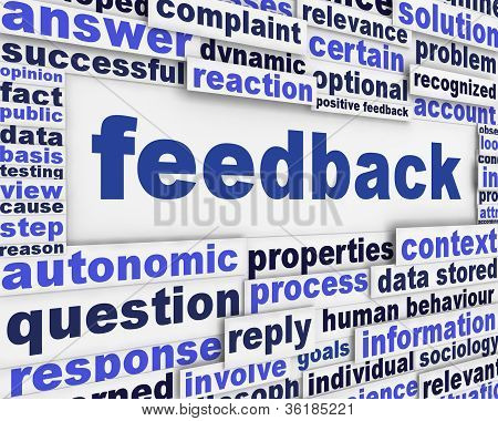 Feedback poster conceptual background