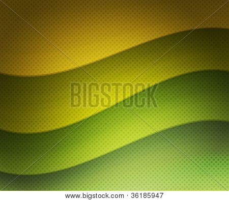 Green Retro Wavy Background