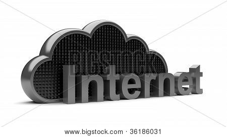 Dark Steel Black Internet Cloud